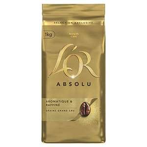 Lot de 4 paquets de café en grains L'Or Absolu (4 x 1 kg)