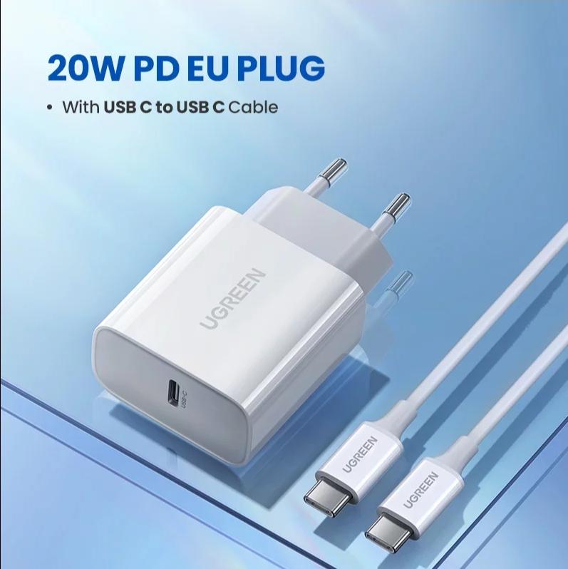 [Nouveaux clients] Chargeur USB Type C Ugreen - 20W