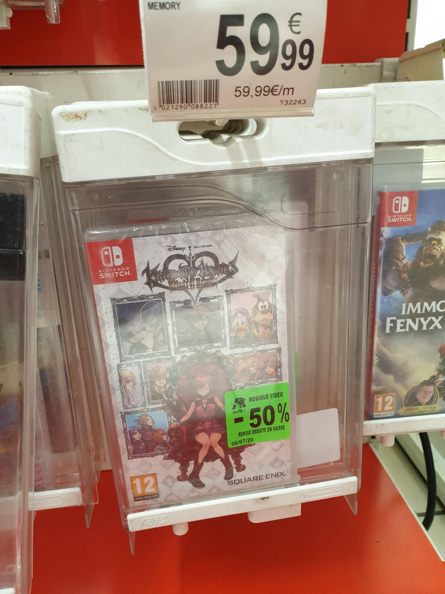 Sélection de jeux vidéo en promotion - Ex : Kingdom Hearts Melody Of Memory sur Nintendo Switch (Centre Deux Saint-Étienne 42)