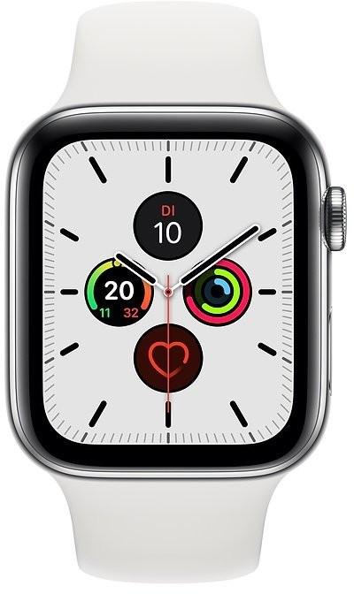 Montre connectée Apple Watch Series 5 GPS + Cellular - 40 mm, acier inox, bracelet Sport, blanc (334.34€ via MAXISOLDES10)