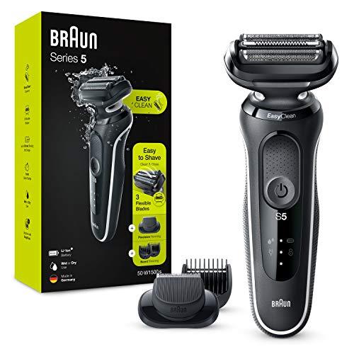 Rasoir électrique Braun Series 5 50-W1500s avec tondeuse à Barbe pour Homme