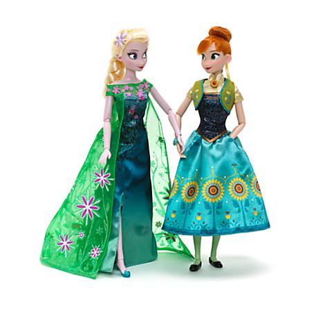 Ensemble de poupées Anna et Elsa de La Reine des Neiges - Une Fête Givrée