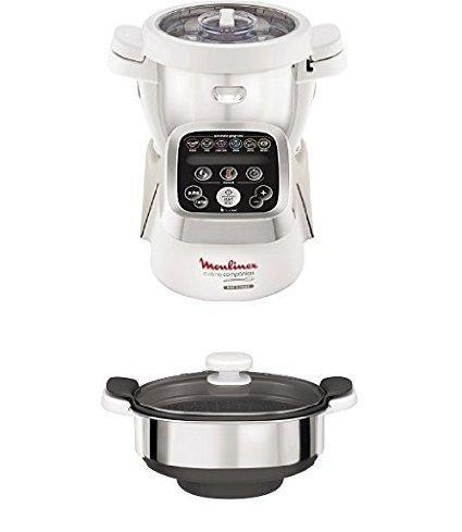 Pack Robot Cuiseur Moulinex Companion HF802AK2 + 1 Cuiseur vapeur