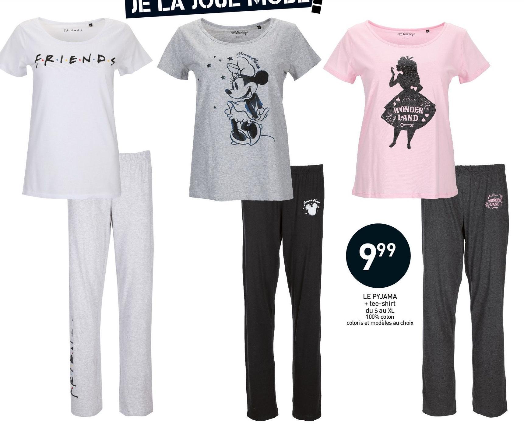 Sélection Pyjamas Femme 100% cotton - Ex Pyjama Friends