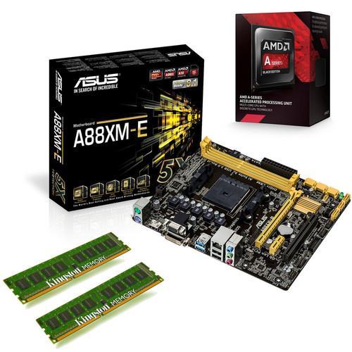 Kit d'évo AMD A10-7860K Black Edition (3.6 GHz) + Asus A88XM-E + DDR3 Kingston ValueRAM 8 Go (2 x 4 Go)