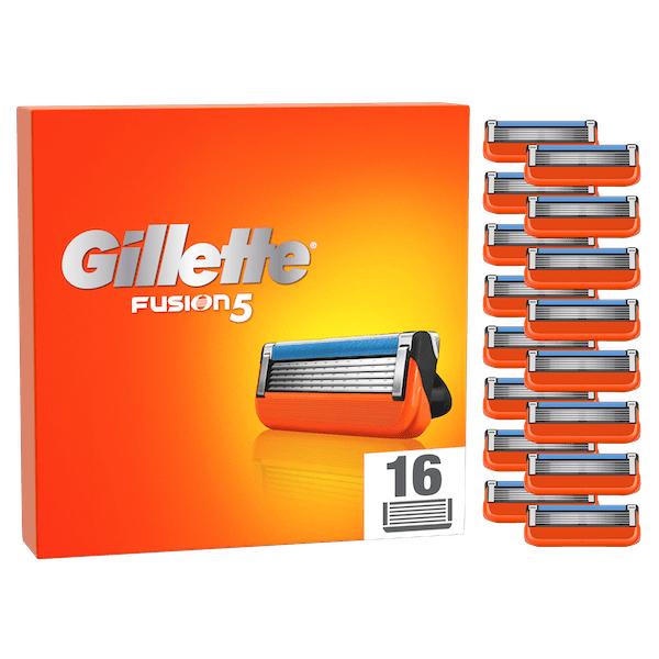 Maxi Pack de 16 lames de rasoir Gillette Fusion 5 + 1 Accessoires au choix
