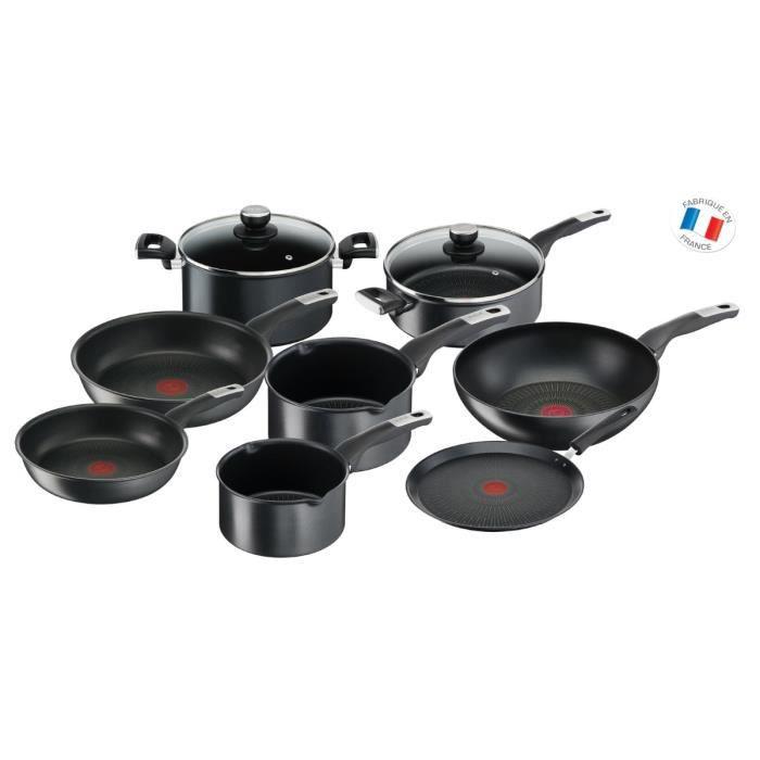 Batterie de cuisine Tefal Unlimited YY4390FA - 10 pièces, Tous feux dont induction
