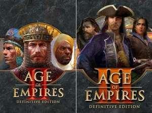 Age of Empires II: Definitive Edition ou Age of Empires III: Definitive Edition à 4€ sur PC Windows (Dématérialisés - Store BR)