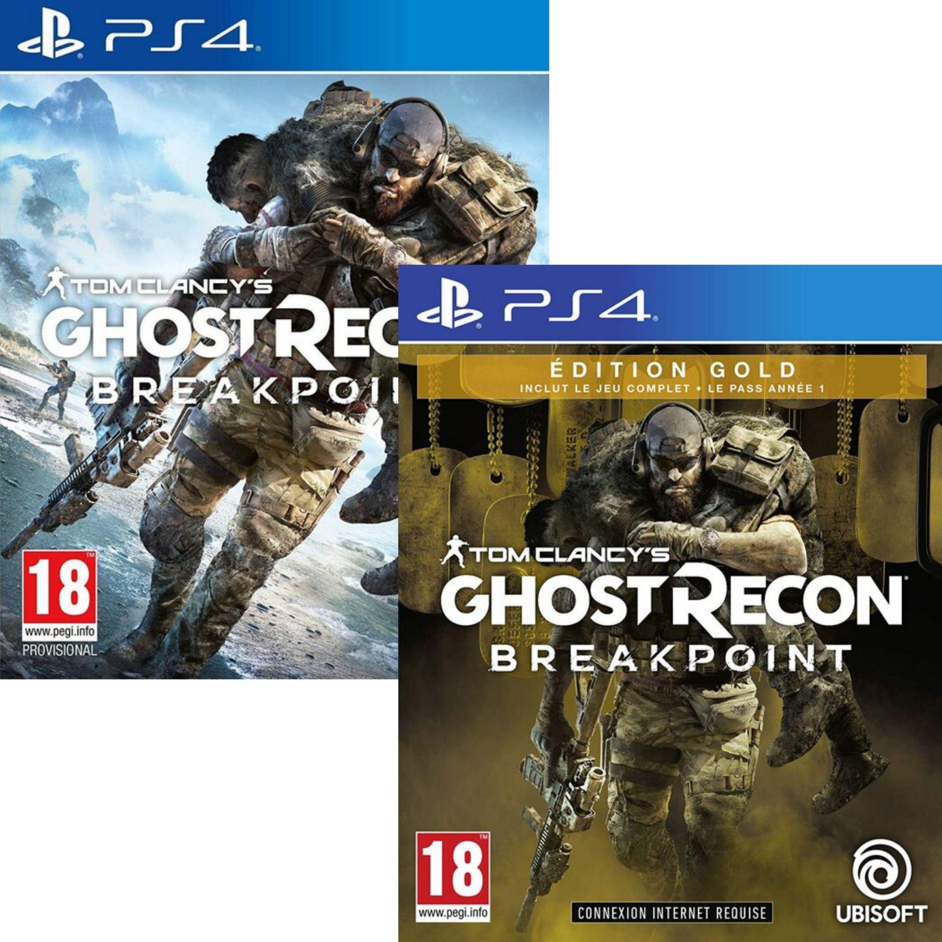 Tom Clancy's Ghost Recon : Breakpoint sur PS4 (Version gold à 5.99€ sur PS4 & Xbox One)