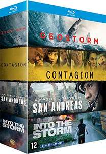 Coffret Blu-Ray 4 Films : Contagion + Geostorm + San Andreas + Into The Storm