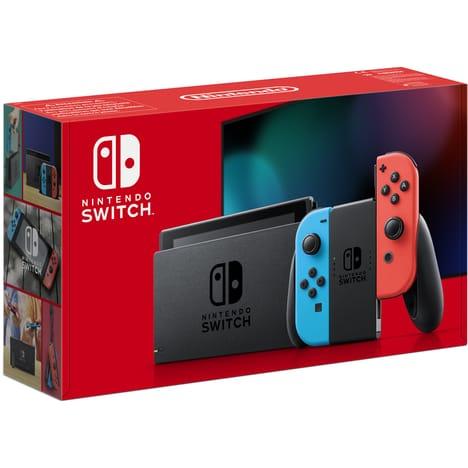 Console Nintendo Switch V2 (via 20€ sur la carte fidélité) - Joy-Con Bleu et Rouge