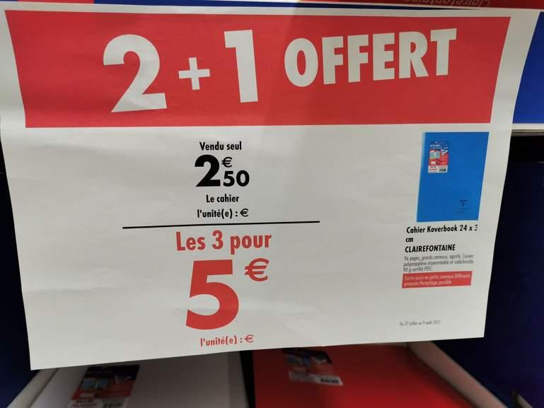 3 Cahiers Clairefontaine Coverbook 24*32 - carré sénart (77)