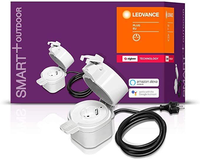 Prise connectée Ledvance Smart+ Outdoor - Zigbee, IP44