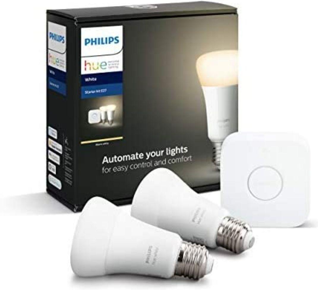 Pack Philips Hue - Pont + 2 ampoules connectées White E27