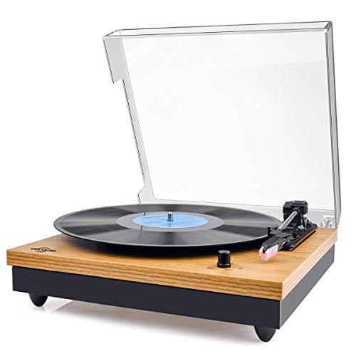 Platine vinyle Viflykoo - 3 vitesses, Bluetooth (vendeur tiers)