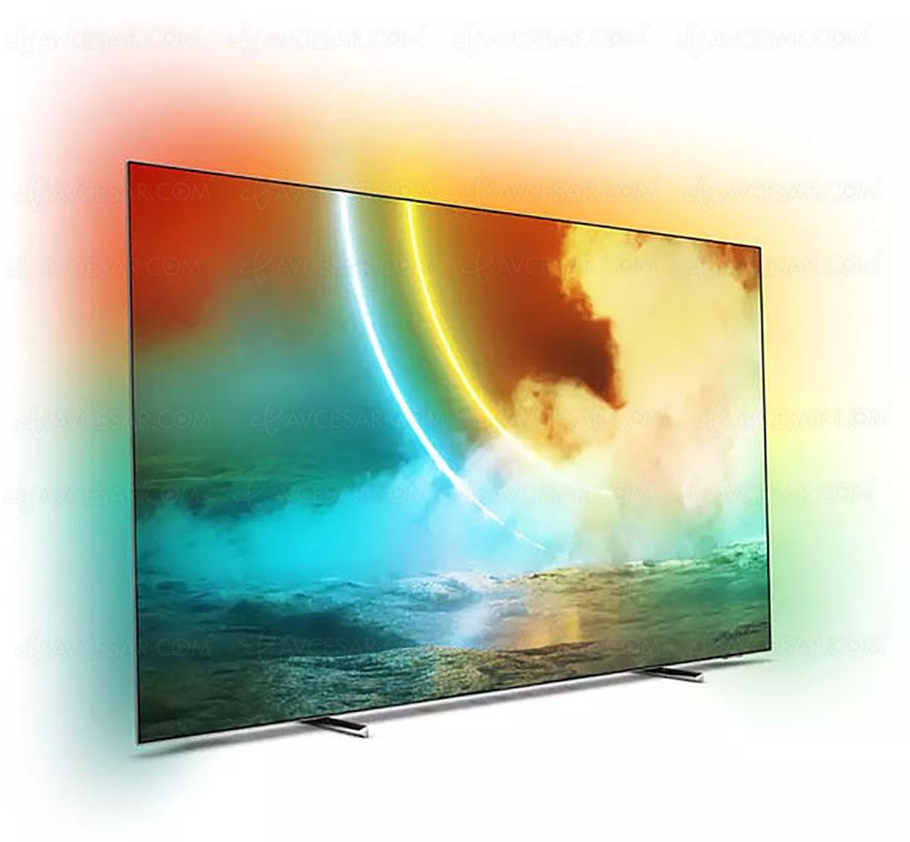 "TV 55"" Philips 55OLED705 - OLED, 4K , 100 Hz, HDR 10+, Dolby Vision, Android TV, Ambilight (via 150€ en bon d'achat - sélection de magasins)"
