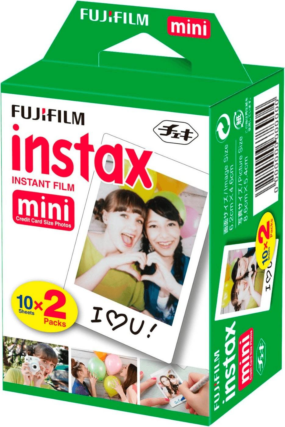 Lot de 2 paquets de 10 films instantanés Fujifilm Films pour Instax Mini - 2x10 (via 7.95€ en fidélité)