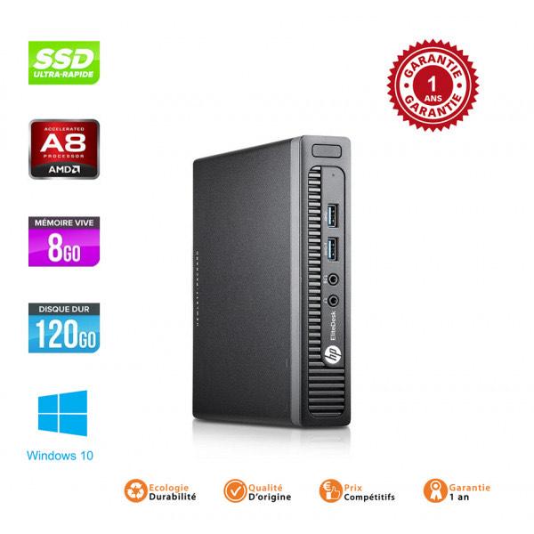 Ordinateur HP EliteDesk Mini G2 705 - AMD PRO A8-8600B, SSD 120Go, RAM 8Go (Occasion) - surdiscount.com