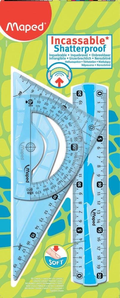Kit de traçage 3 pièces incassables Maped Flex (via 0,77 € sur carte fidélité)