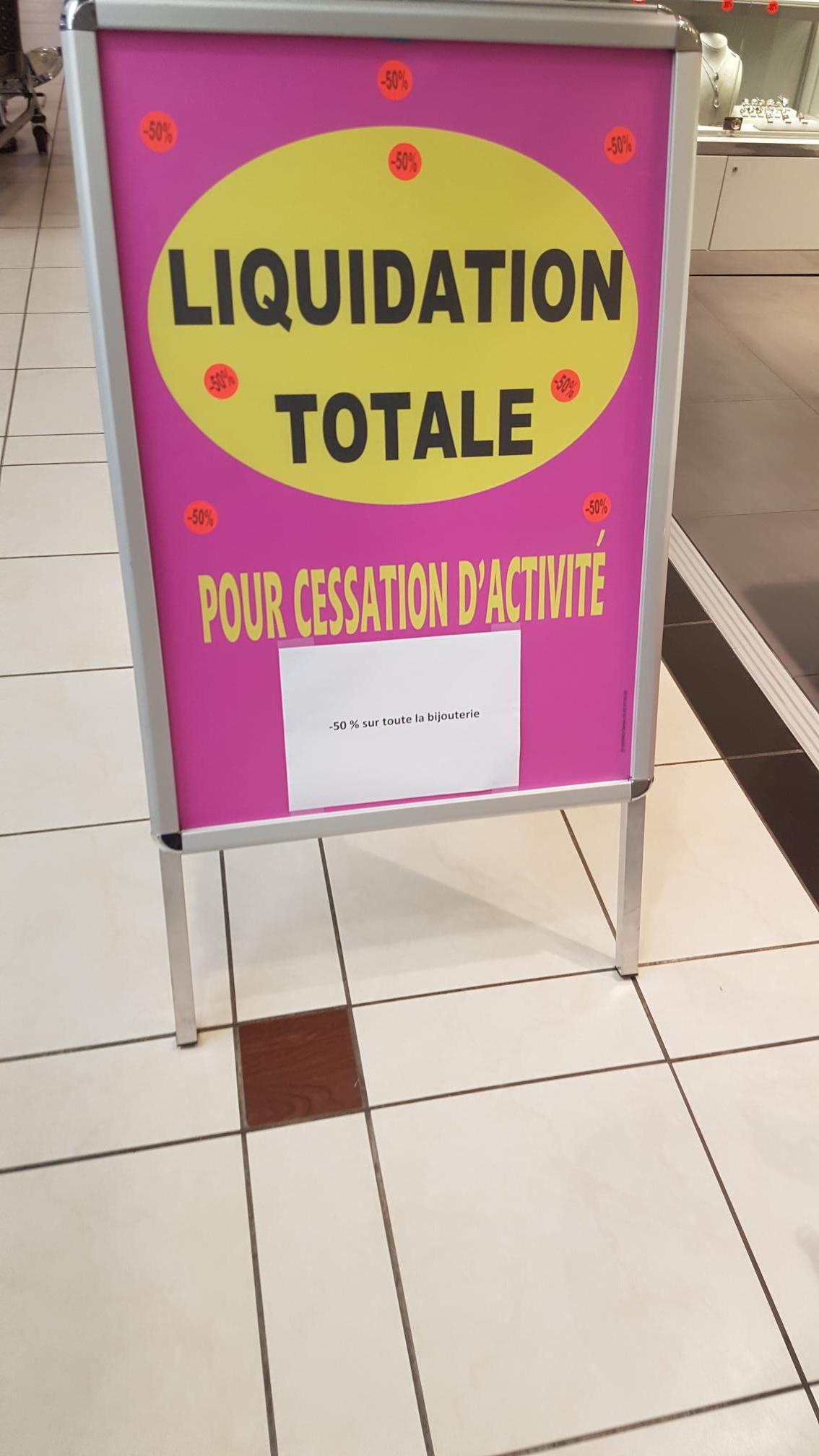 Liquidation totale : - 50% sur toute la boutique - Roques (31)