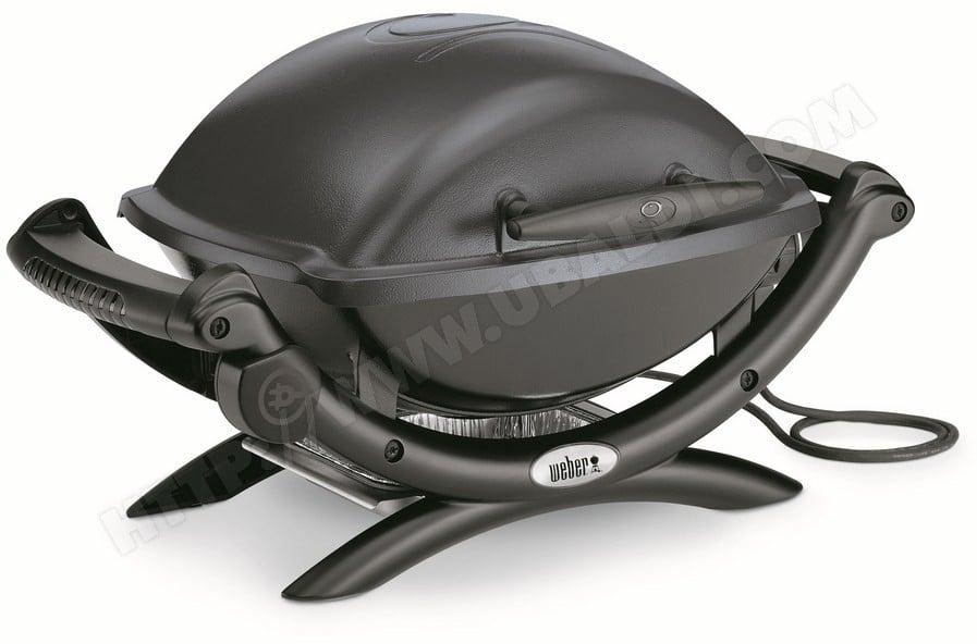 Barbecue électrique Weber Q1400 - Gris, Surface de cuisson 43 x 32 cm