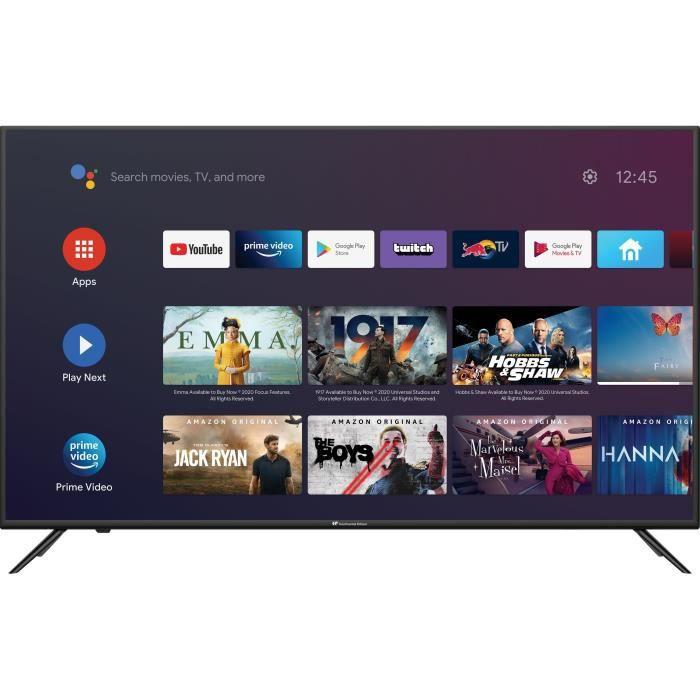 """TV 43"""" Continental Edison CEQLED43SA21B7 - QLED, 4K, HDR10, Android TV, Borderless"""