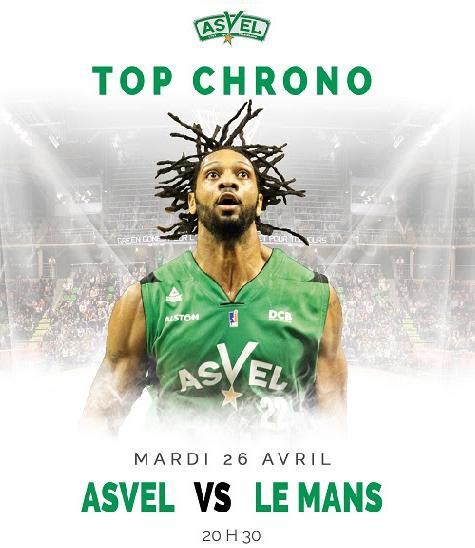 Place gratuite pour le match de basket-ball Asvel / Le Mans le mardi 26 avril (20h30)