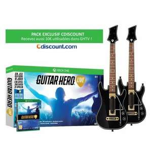 Pack Guitar Hero Live sur Xbox One + 2 Guitares pour Xbox One