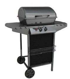 Barbecue gaz 2 bruleurs silver style