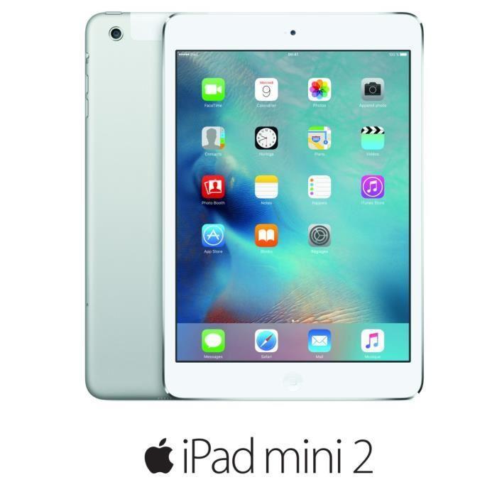 """Tablette 7.9"""" Apple iPad Mini 2 Wi-Fi Cellular 32Go Argent + 35€ en 1 bon d'achat"""