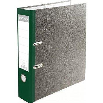 Classeur à levier papier - Marbre gris, dos de 80mm