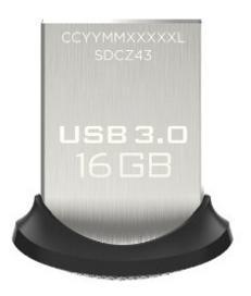 Clé USB 3.0 SanDisk Ultra Fit 16 Go