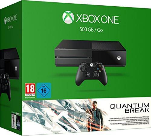 Pack Console Xbox One (500 Go) Noire + Quantum Break Edition Spéciale