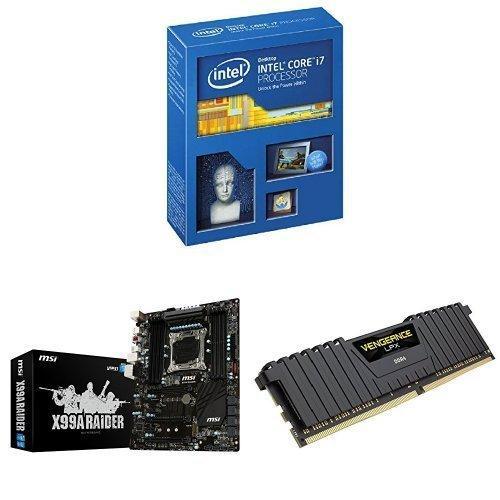 Kit Upgrade Gaming PC : Processeur Intel Core i7-5930K + Carte mère MSI X99A Raider + Mémoire Corsair Vengeance LPX 8 Go