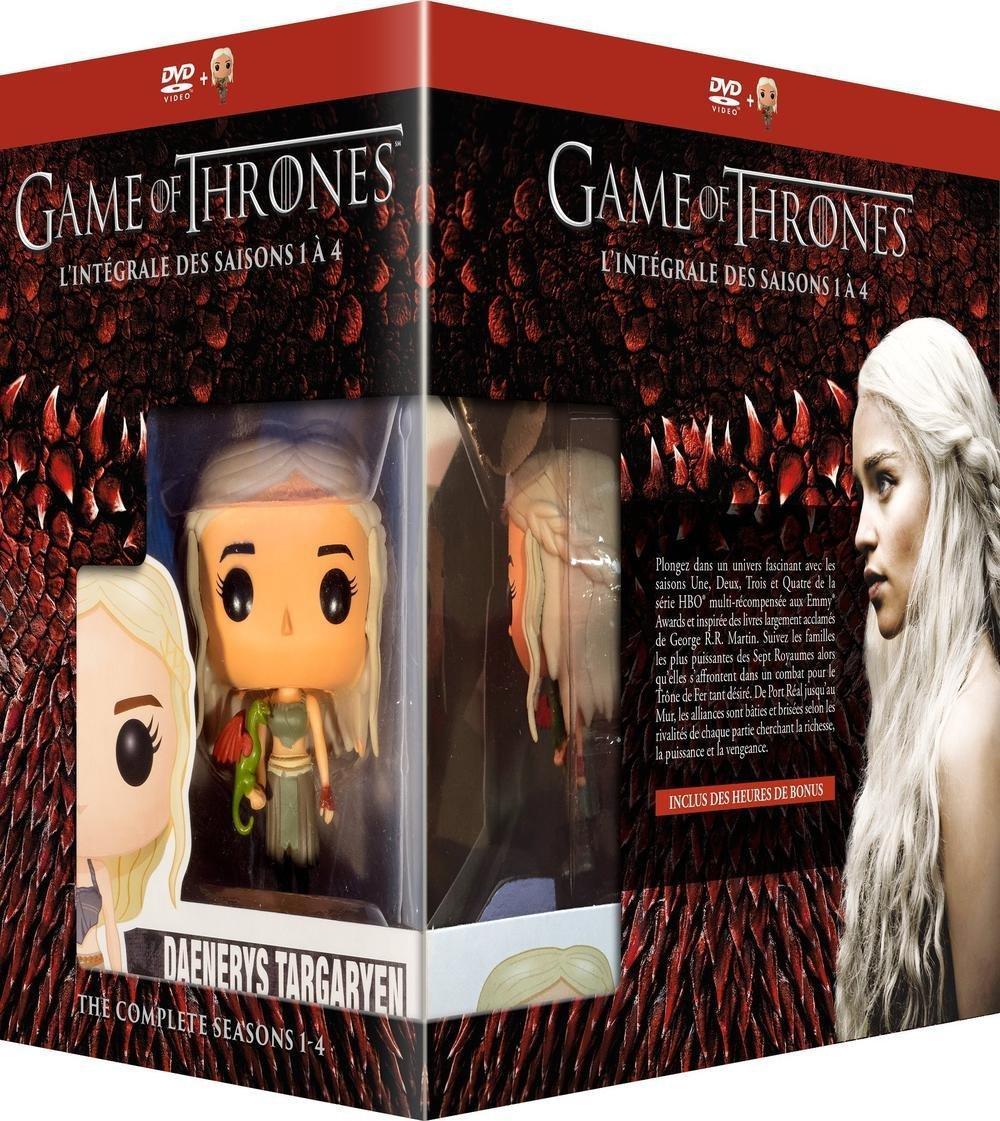 Coffret DVD Game of Thrones (Le Trône de Fer) - L'intégrale des saisons 1 à 4 + Figurine Pop! (Funko)