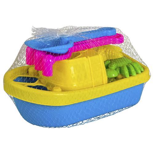 Set de plage en forme de bateau (10 pièces)