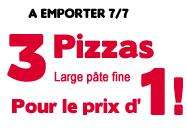 Lot de 3 Pizzas Larges pâte fine