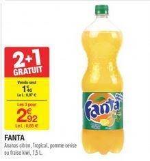 Lot de 3 bouteilles de Fanta (1.5 L)
