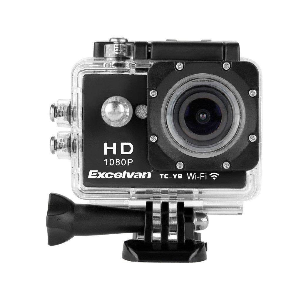 Caméra Sportive Excelvan TC-Y8 WiFi 30M Étanche 1080p + Kit d'Accessoires