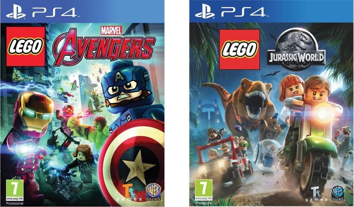 1 jeu Lego Marvel's Avengers acheté = 50% de réduction sur le 2ème jeu Lego (Multi-plateformes) - Ex : Marvel's Avengers + Jurassic World sur PS4