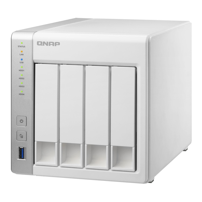 Nas Qnap TS-431 - 4 HDD/SSD, 2 Gigabit-Lan, 3 USB 3.0, 1 eSATA