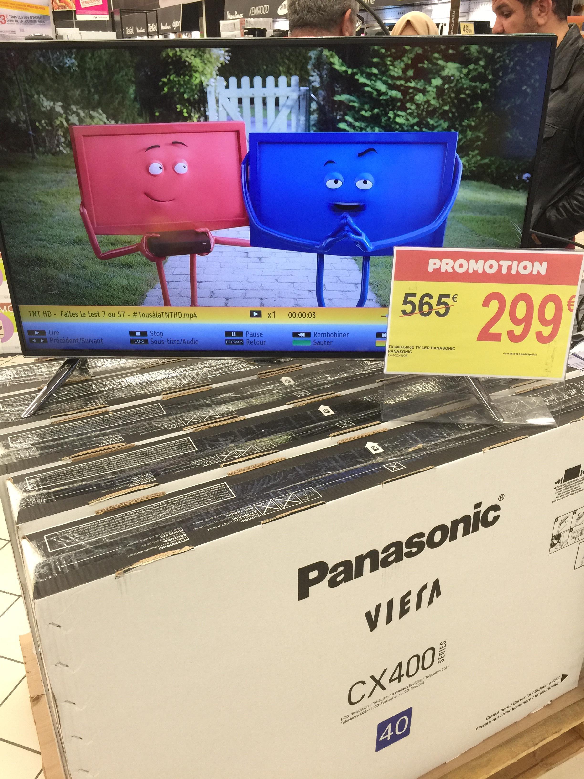 "TV 40"" Panasonic TX-40CX400E - 4K, 3D active"