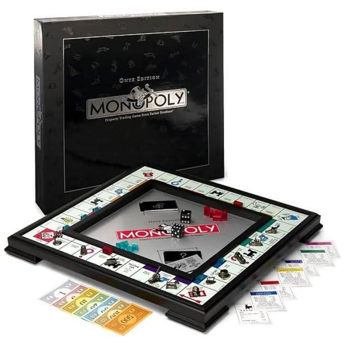 Jeu de société Monopoly - Edition Onyx Winning Moves