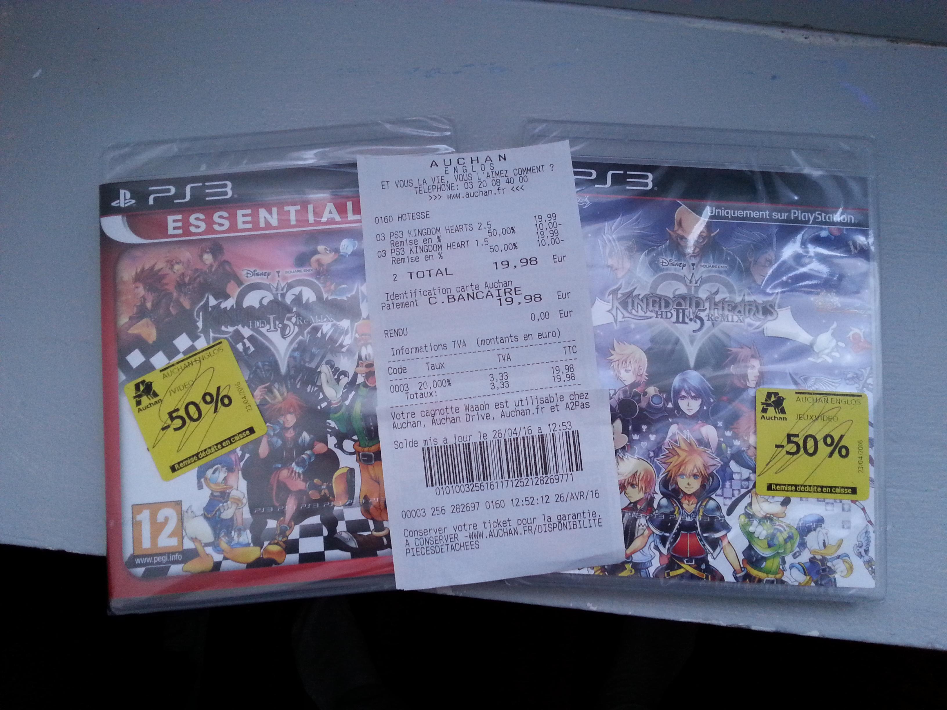 Kingdom Hearts HD 1.5 et 2.5 sur PS3