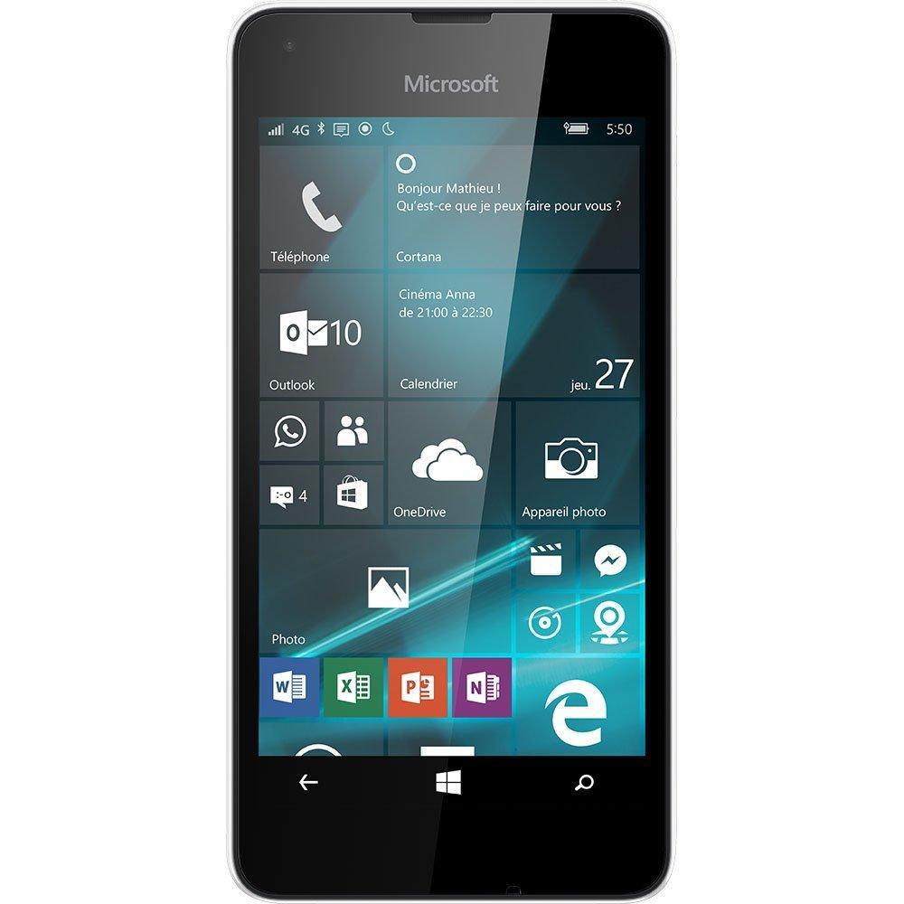 """Smartphone 4.7"""" Microsoft Lumia 550 Noir 4G - 8 Go (via ODR de 30€)"""