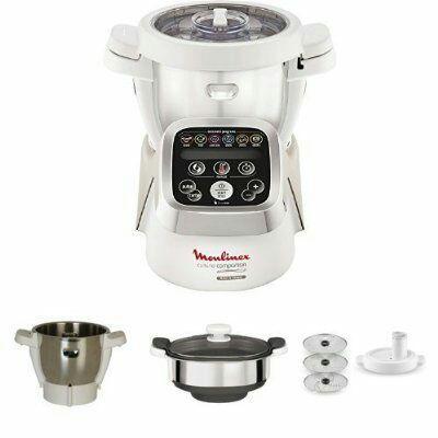 Full Pack Companion : Robot Cuiseur  + 1 bol Companion + 1 cuiseur vapeur Companion + 1 découpe légumes Companion