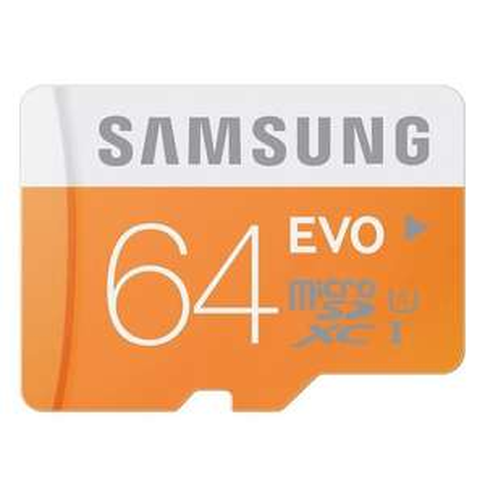 Carte mémoire MicroSDXC  Samsung 64 Go EVO - Classe 10