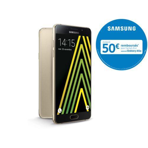 """Smartphone 5.2"""" Samsung  Galaxy A5 2016 (via ODR 50€) - Or ou Blanc"""