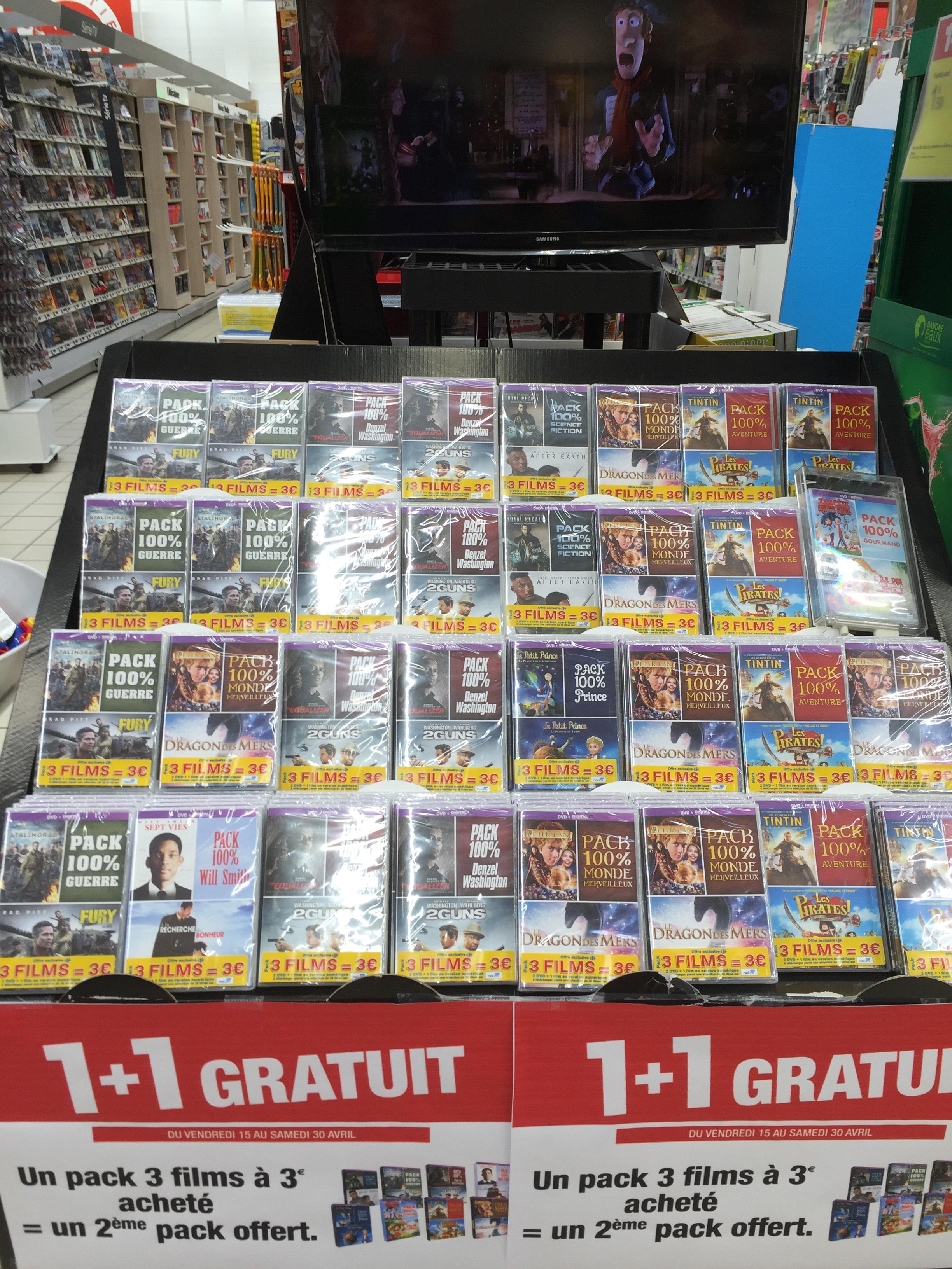 Deux packs de 3 films (2 DVD + 1 version numérique)