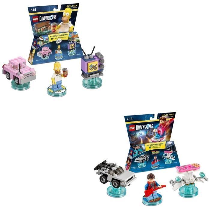 Sélection de lots de 2 figurines Lego Dimensions - Ex : Homer Simpson + Marty McFly